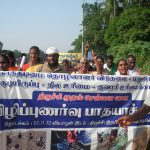 TLM during padhayatra(07-22 Nov-'13) to declare Puthirai Vannars as bonded labourers