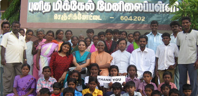 Thurumbar Children given education help through Sadhaana PC Trust at Ginjee in 2009