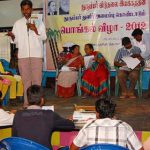 Thirukural competition for children in progress at the Pongal festival by TLM at Ginjee- 22.01.2012