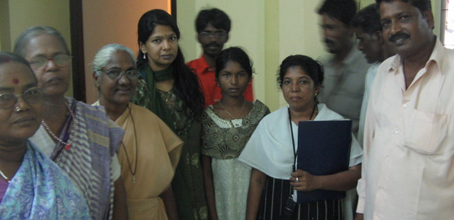 Meeting Kanimozhi MP together with UWF reps, regarding bonded labour & unorganized workers' issues